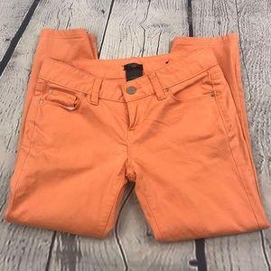 Ann Taylor Orange Modern Petite Kick Cropped Pants